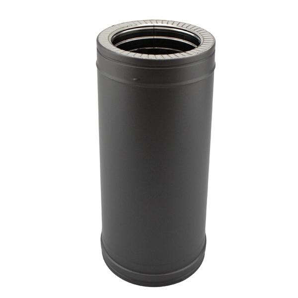 Tuyau 50 CM - Conduit fumée double paroi Noir / Anthracite