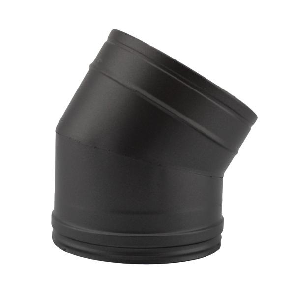 Coude à 30° - Conduit fumée double paroi Noir / Anthracite