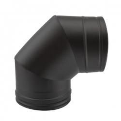 Coude à 90° - Conduit fumée double paroi Noir / Anthracite
