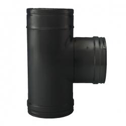 Té à 90° - Conduit fumée double paroi Noir / Anthracite
