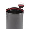 Conduit poêle à bois simple paroi PRO Noir / Anthracite